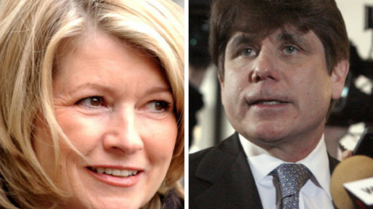 President Trump tells reporters he's considering pardoning Martha Stewart, Rod Blagojevich