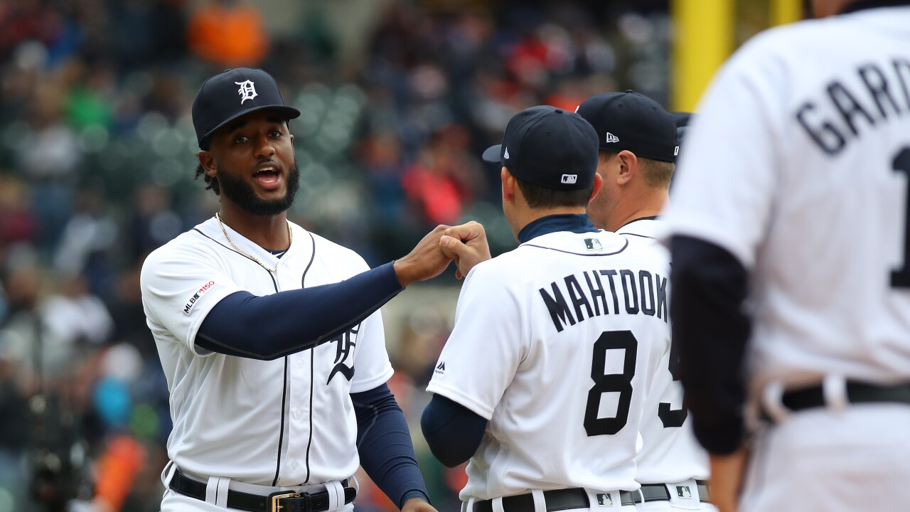 Niko_Goodrum_Kansas City Royals v Detroit Tigers
