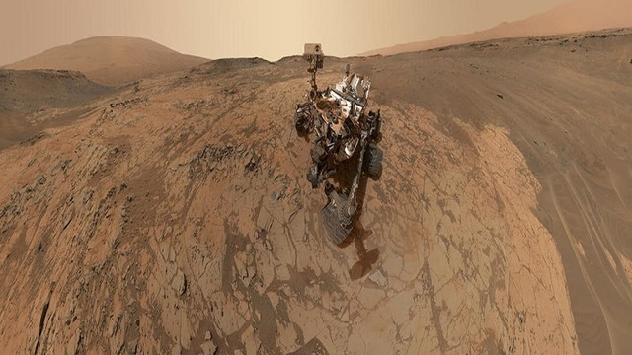 Curiosity rover photos show Mars' rugged terrain