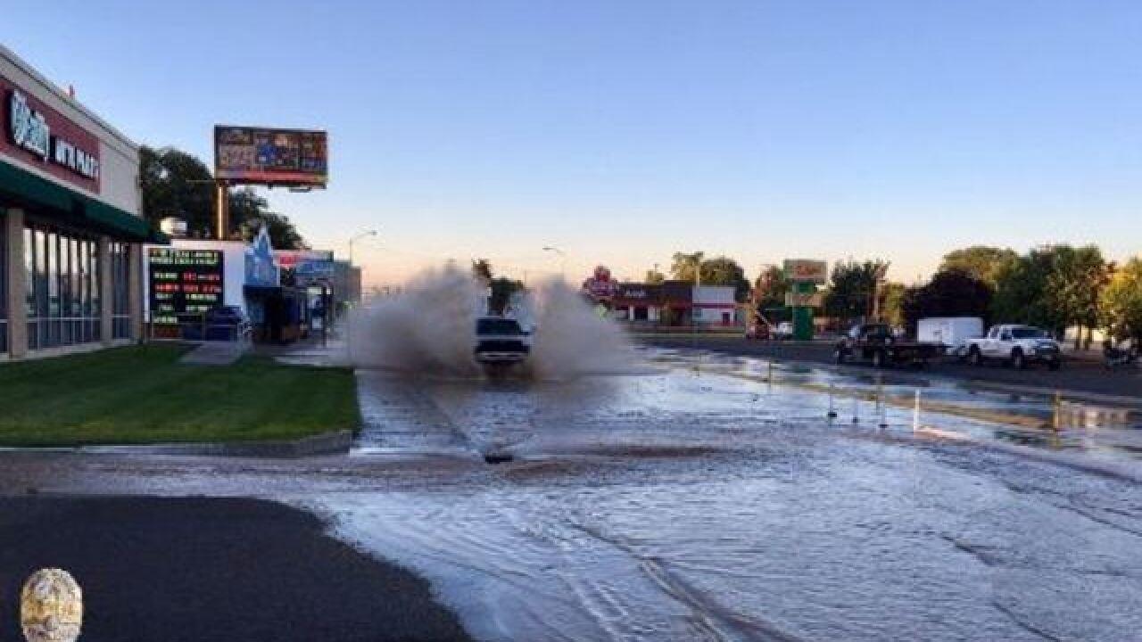 """Crash makes Nampa intersection """"a muddy mess"""""""