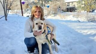 Woman Vet Companion Dog