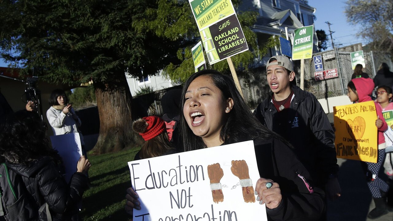 Striking Oakland teachers return to school after promise of pay raises, smaller classes