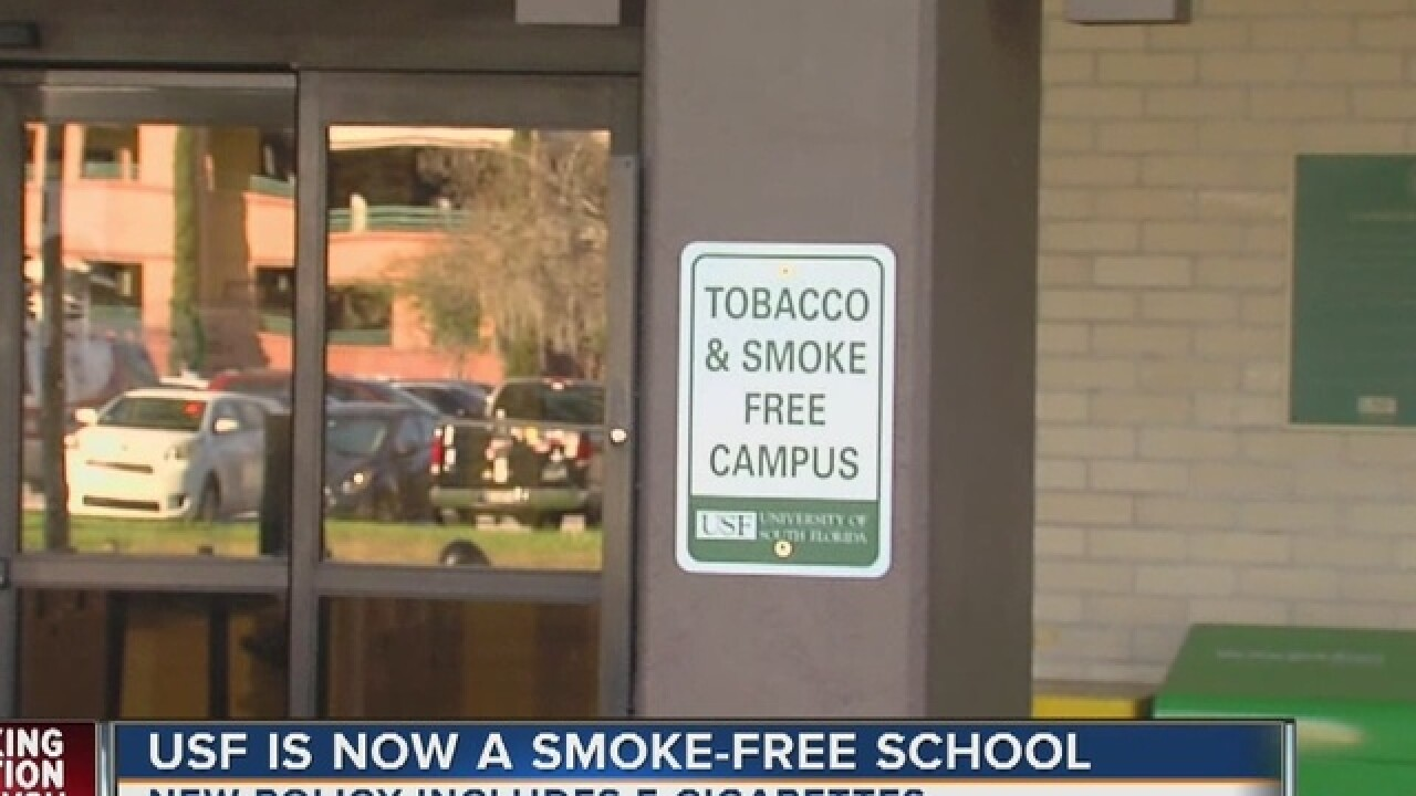 USF's smoking and tobacco ban begins