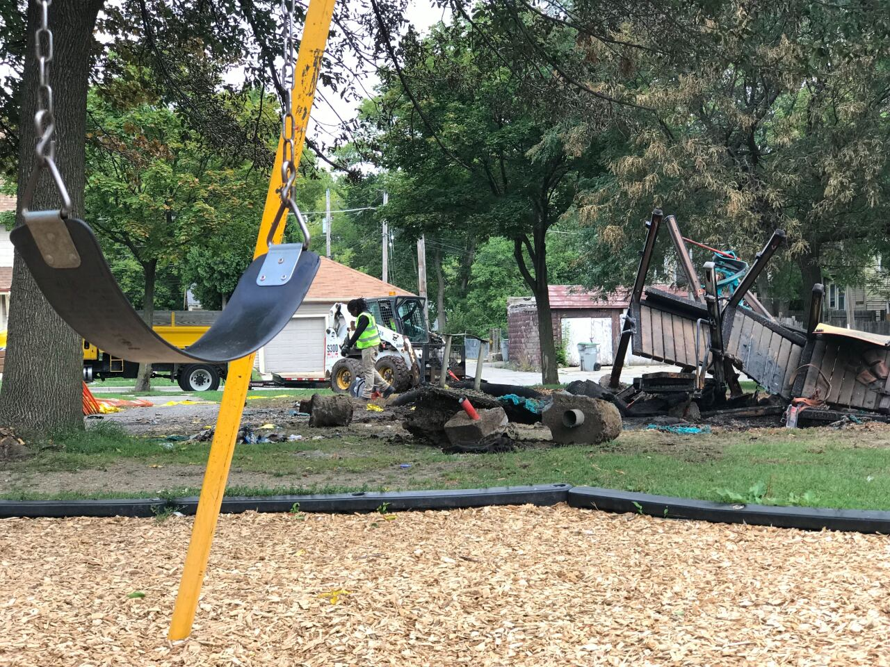 Butterfly Park repairs