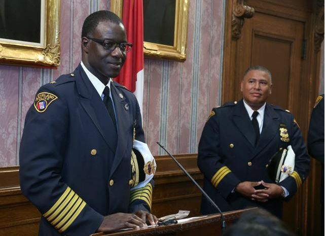 Chief Calvin Williams and Deon McCaulley