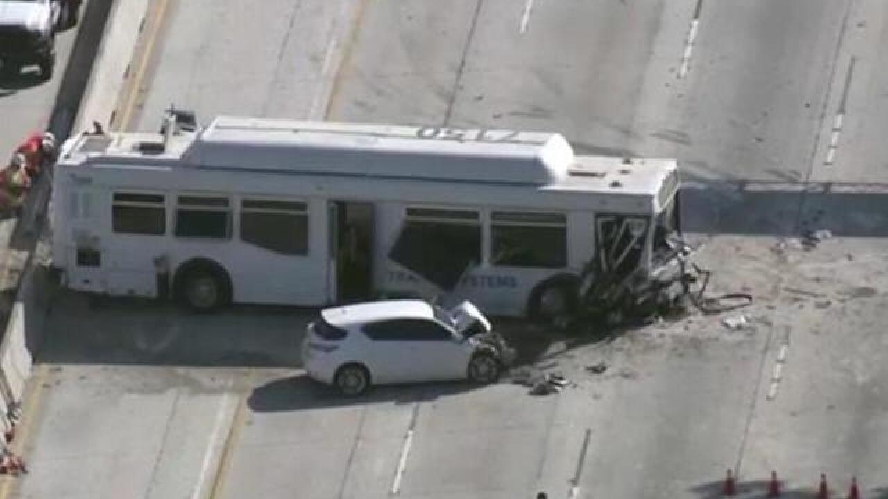 Bus crash in Los Angeles injures at least 25 people