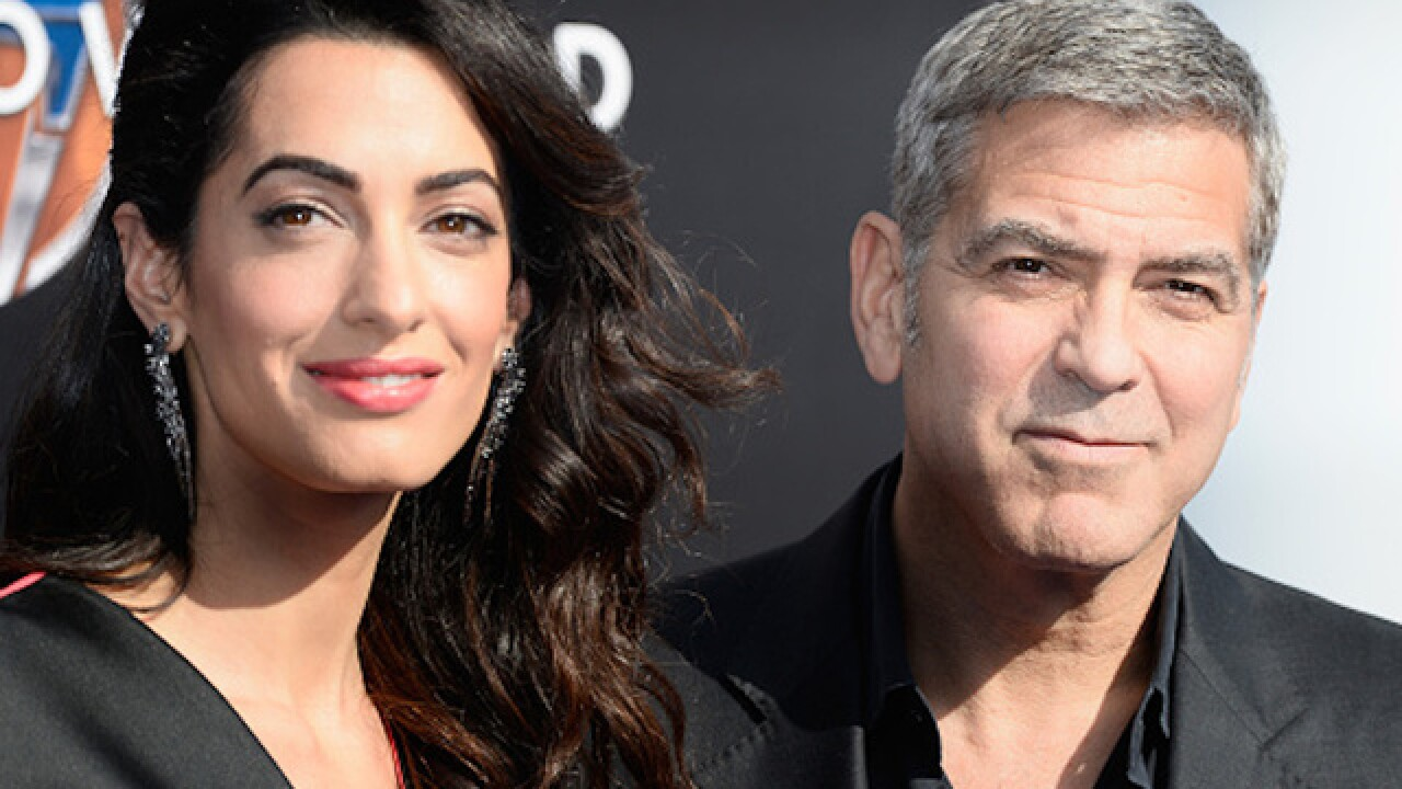 George Clooney's wife, Amal, is pregnant with twins