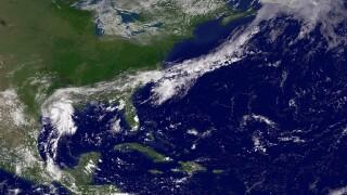 Tropical Storm Humberto Makes Ground On Gulf Coast