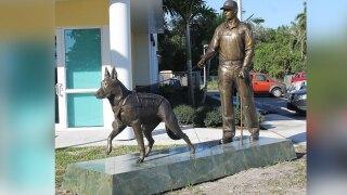 American Military Hero Dog Monument located at Tri-County Animal Rescue near Boca Raton