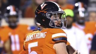 Virginia quarterback Brennan Armstrong