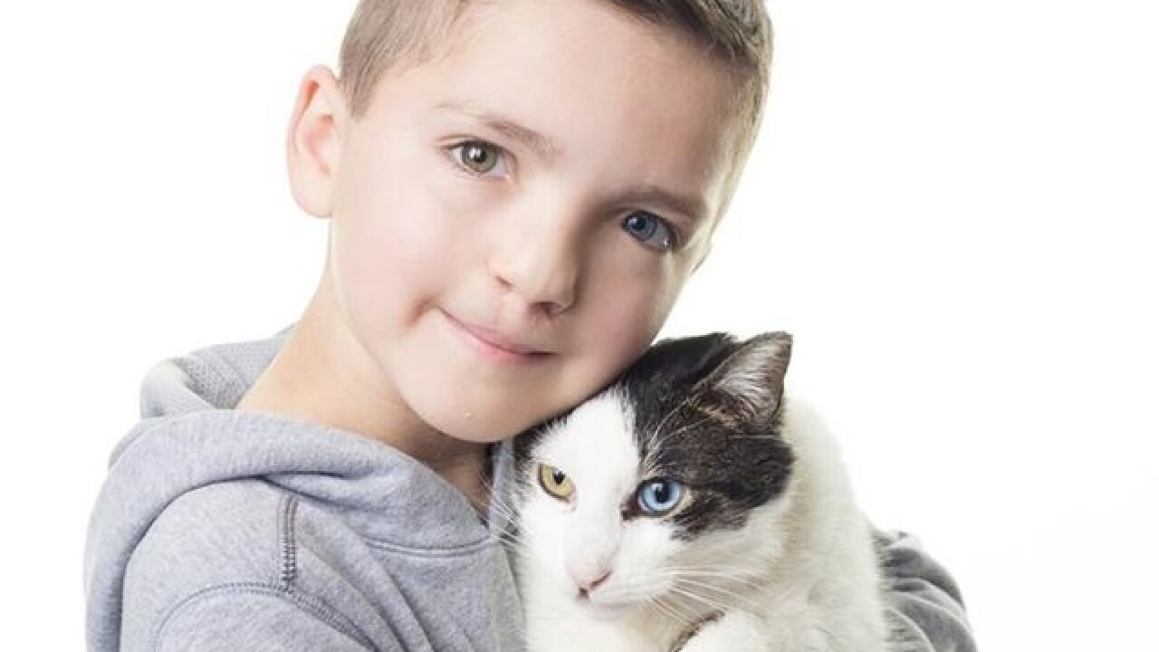 Oklahoma boy bullied for his looks, adopts cat with shared differences