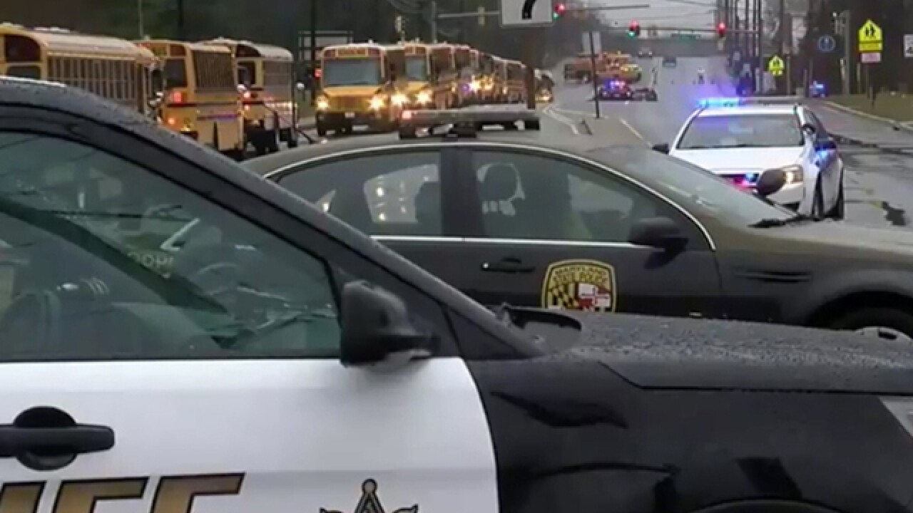 Two students hospitalized, gunman dead after Maryland school shooting
