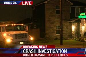 CCPD: DWI suspected after truck hits home