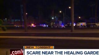 Loud noise startles visitors near Las Vegas Healing Garden on 1 October anniversary