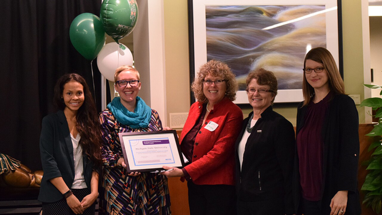 MSU honored with Michigan Breastfeeding-Friendly Workplace Award