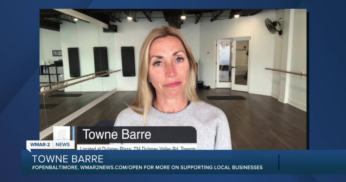 """Towne Barre in Towson says """"We're Open Baltimore!"""""""