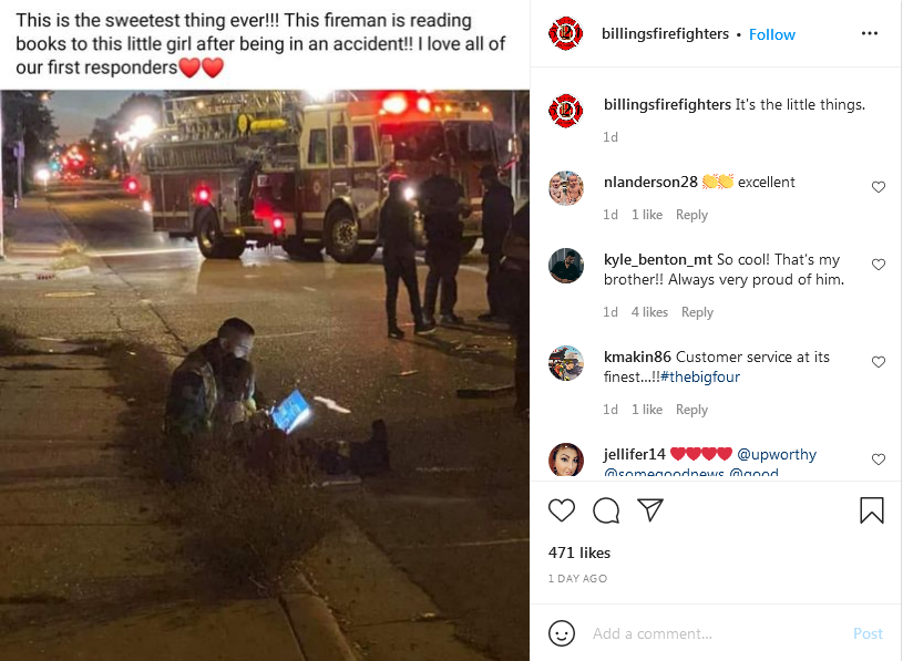"""Screenshot 2021-09-30 at 21-50-55 Billings Fire Fighters on Instagram """"It's the little things """".png"""