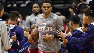 Houston Rockets superstar Russell Westbrook says he's tested positive for COVID-19