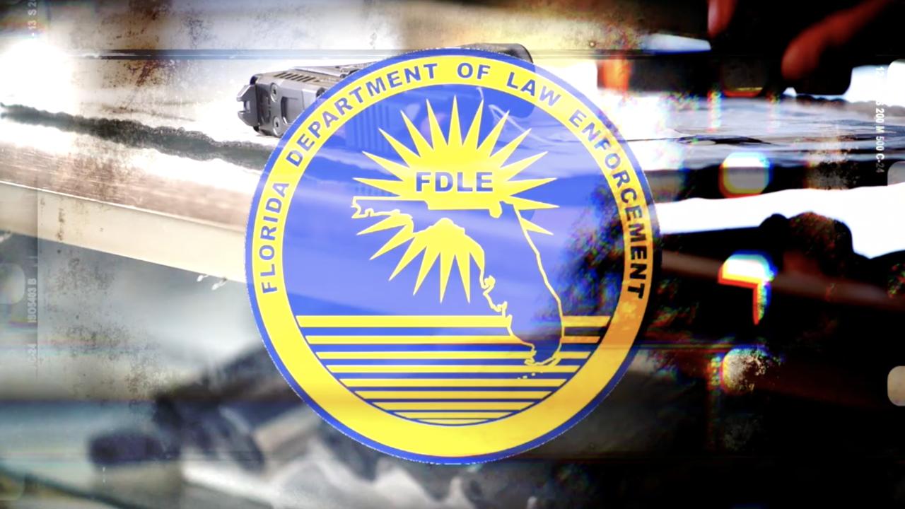 FDLE logo superimposed over guns