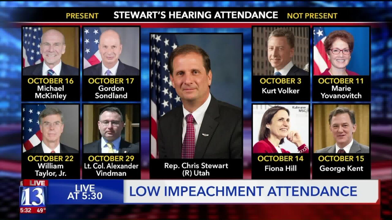 Reps. Stewart and Curtis absent from many impeachmenthearings