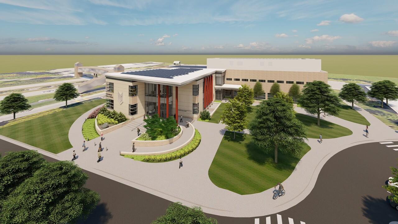Calvin University School of Business - Southeast Aerial.jpg