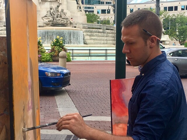 PHOTOS: Indy artist captures city on canvas