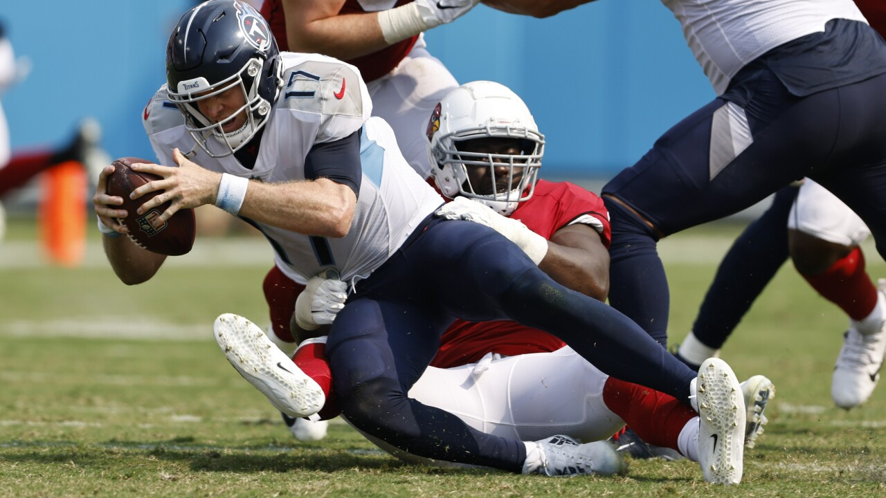 The Arizona Cardinals looked like one of the NFL's best teams during Week 1 with a 38-13 road win over the Tennessee Titans. AP photo.