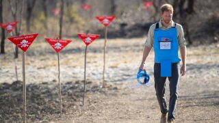 Prince Harry retraces Diana's footsteps through Angola minefield