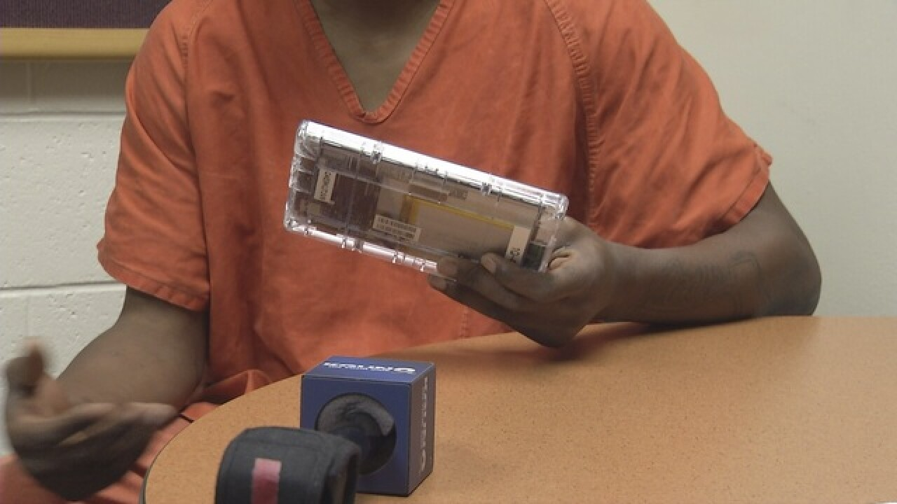 Inmates testing tablets at the Pima County Jail