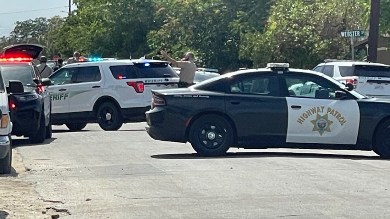 Standoff at Steele Ave. and Exchange St. in East Bakersfield.