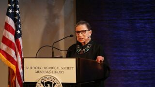Justice Ruth Bader Ginsburg says she never stopped working out during her cancer treatment