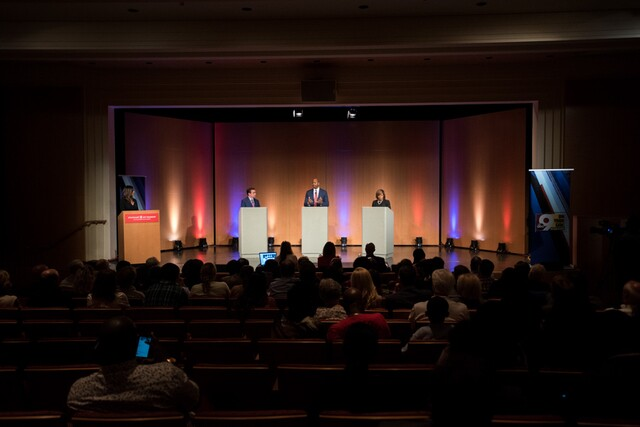Tanya O'Rourke moderates Cincinnati mayoral debate