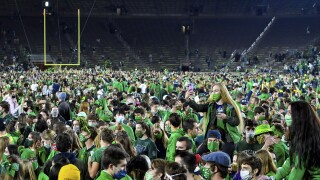 Notre Dame mandates COVID-19 testing after football celebration