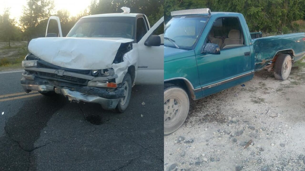 Two people flown to hospital after two-car accident in Suwannee County