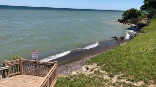 Erosion eats away shoreline, homeowners worried