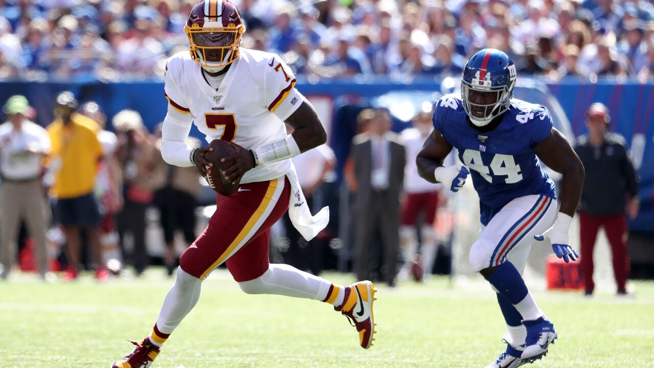 Rookie QB Dwayne Haskins makes NFL debut in loss vs. Giants as Redskins remain winless