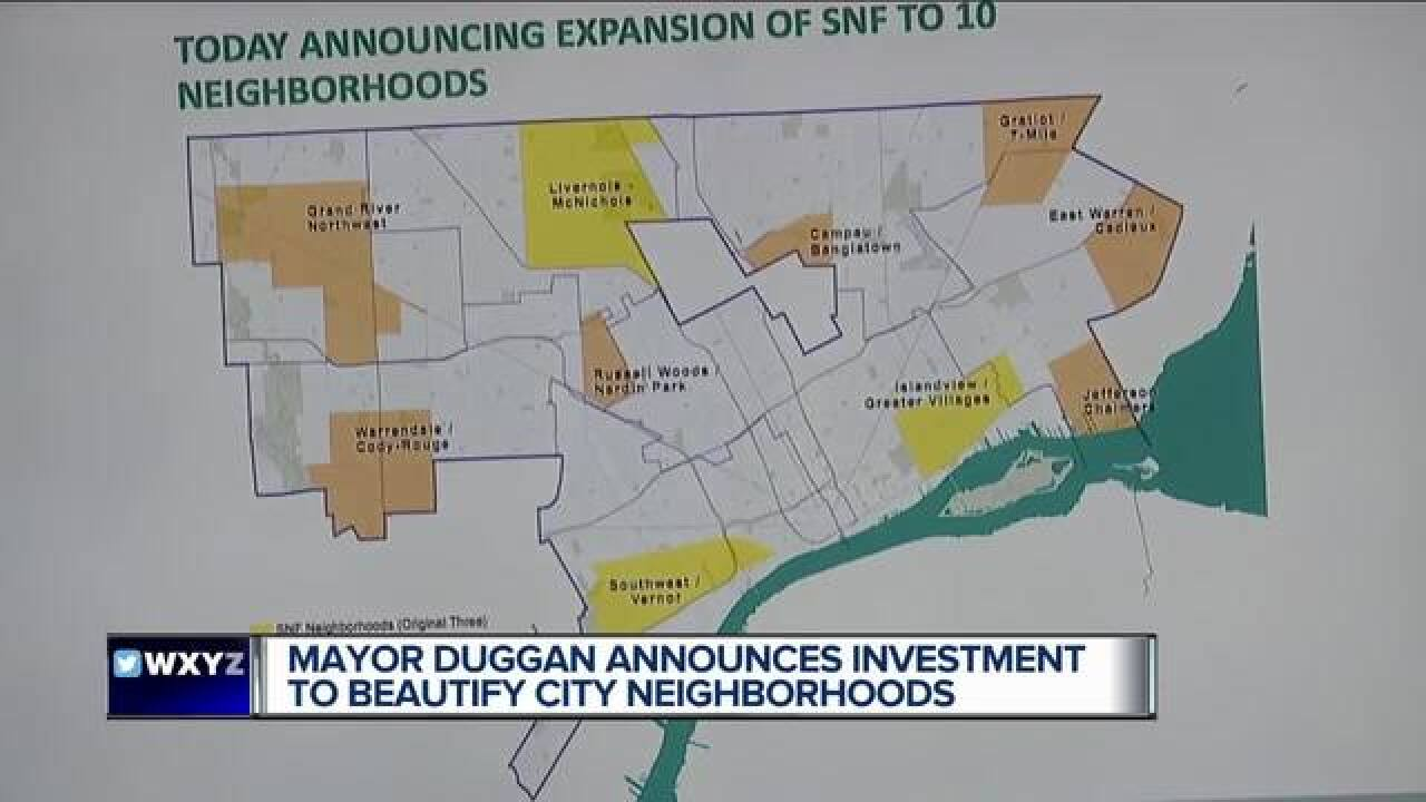 10 Detroit neighborhoods getting $35M investment