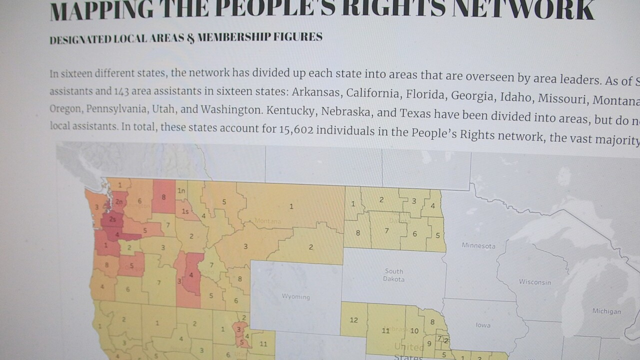 "New report suggests growth of ""People's Rights Network"" involves thousands"