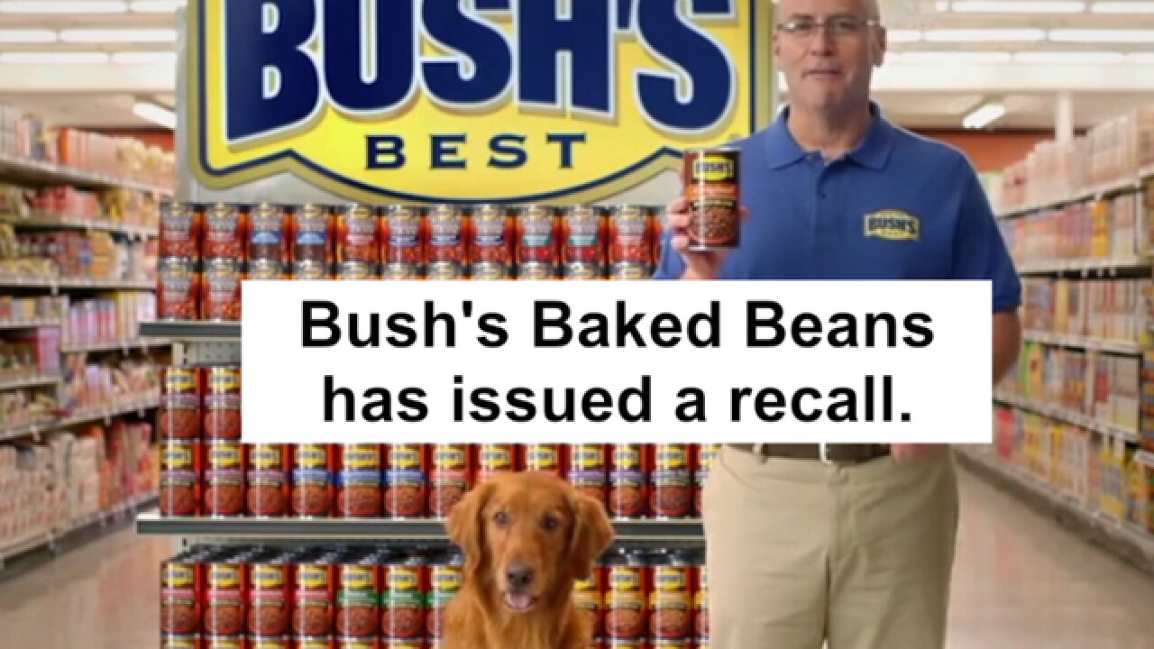 RECALL: Bush's beans recalled for defective cans