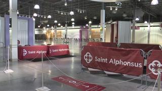 Inisde the Saint Alphonsus vaccine clinic