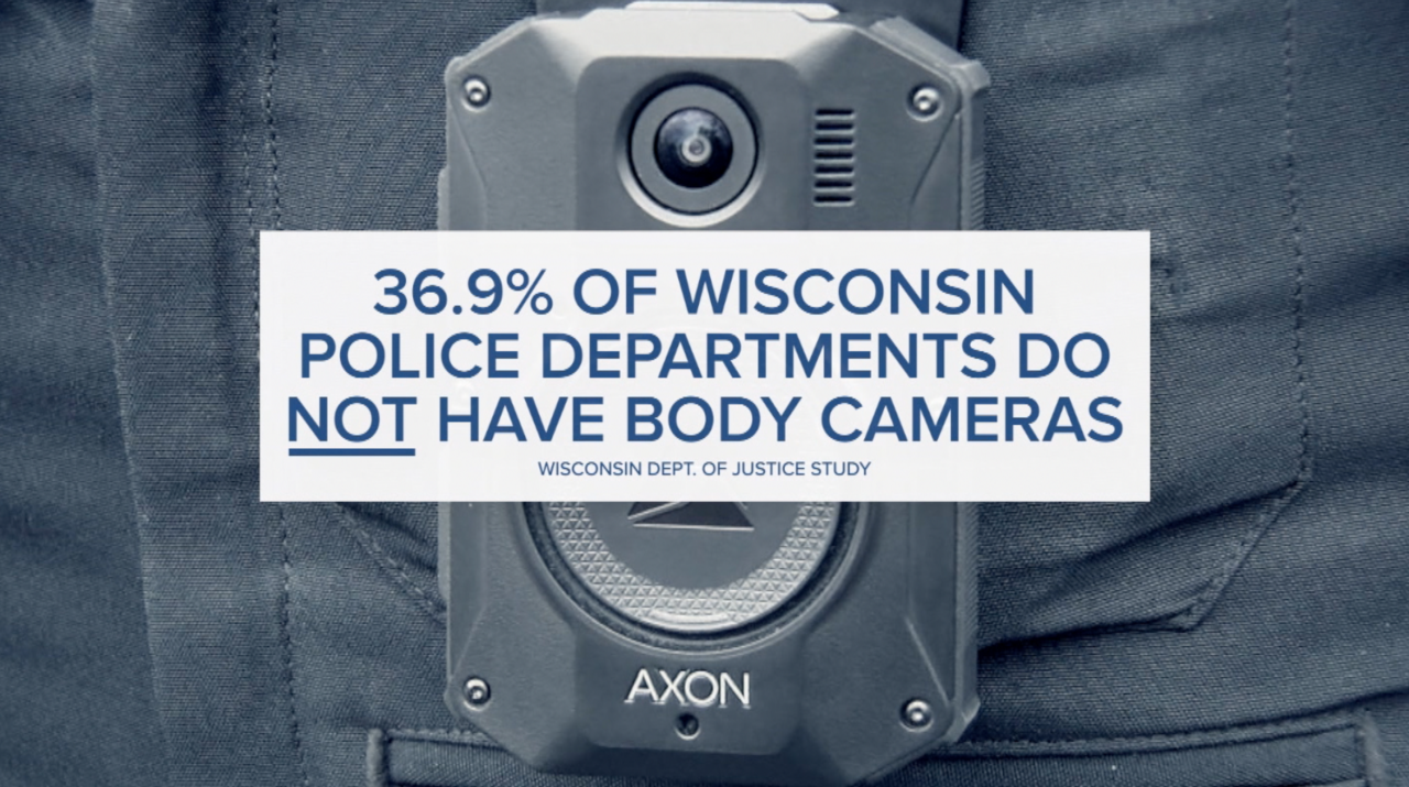 Percentage of Police Departments without body cameras in Wisconsin