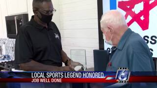 91-year-old former referee honored