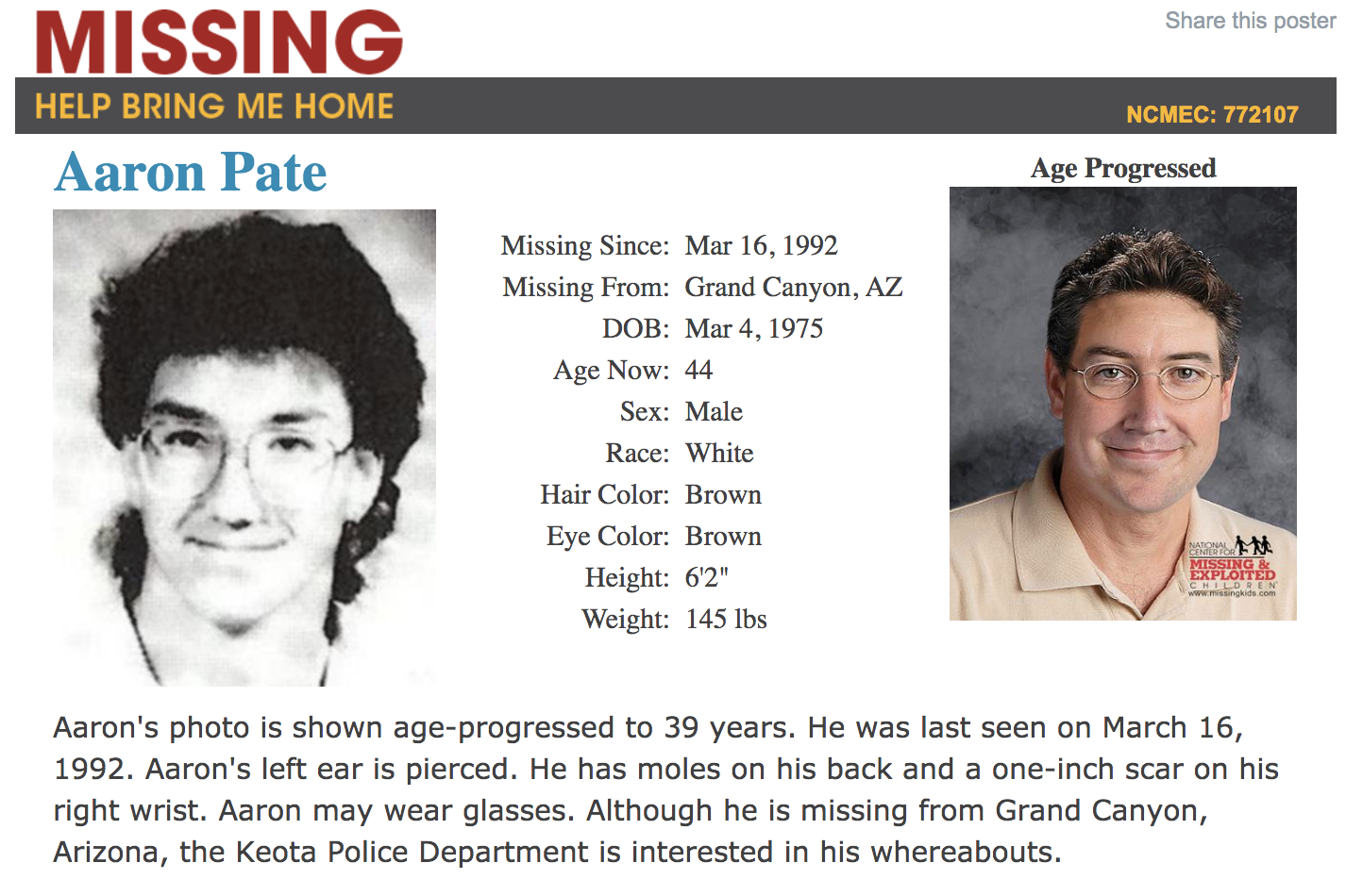 PHOTOS: 183 missing and unidentified children in Arizona