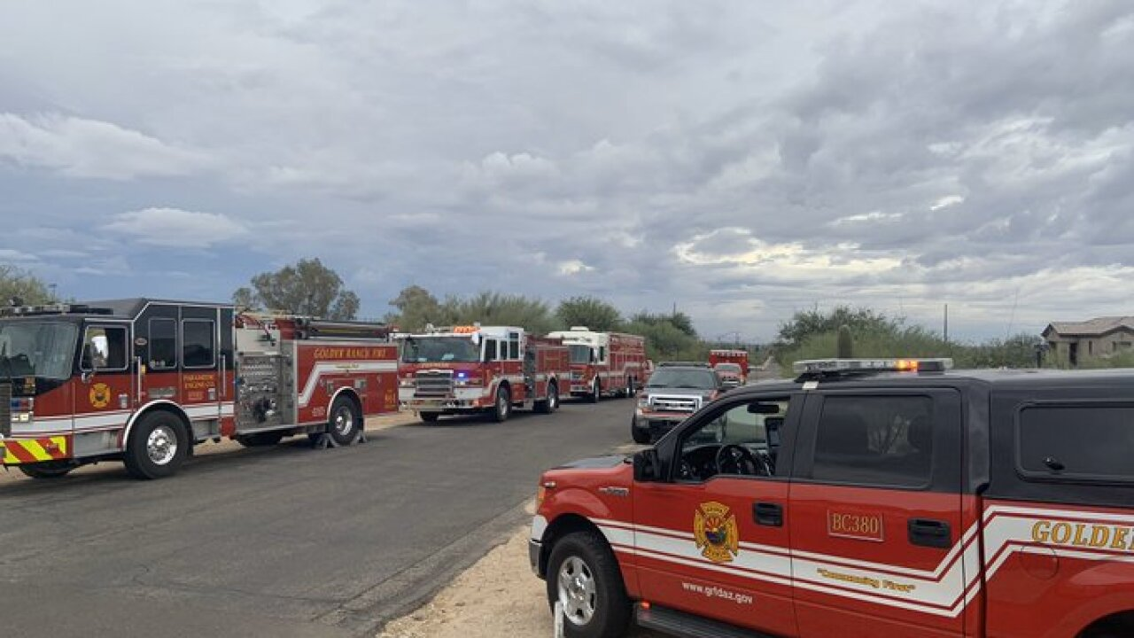 Golder Ranch Fire and Northwest Fire crews rescued a hiker on Linda Vista Trail in Oro Valley Tuesday.