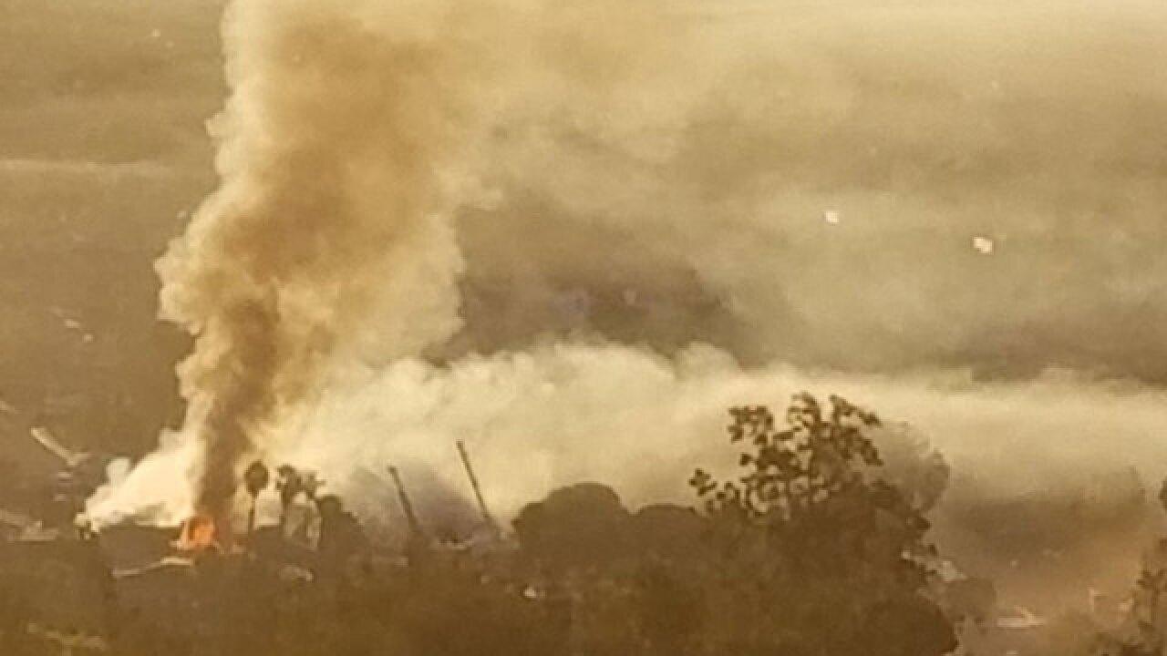 Crews battle fire at Escondido Country Club