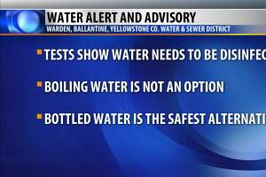 Worden, Ballantine Yellowstone County Water District issues water alert