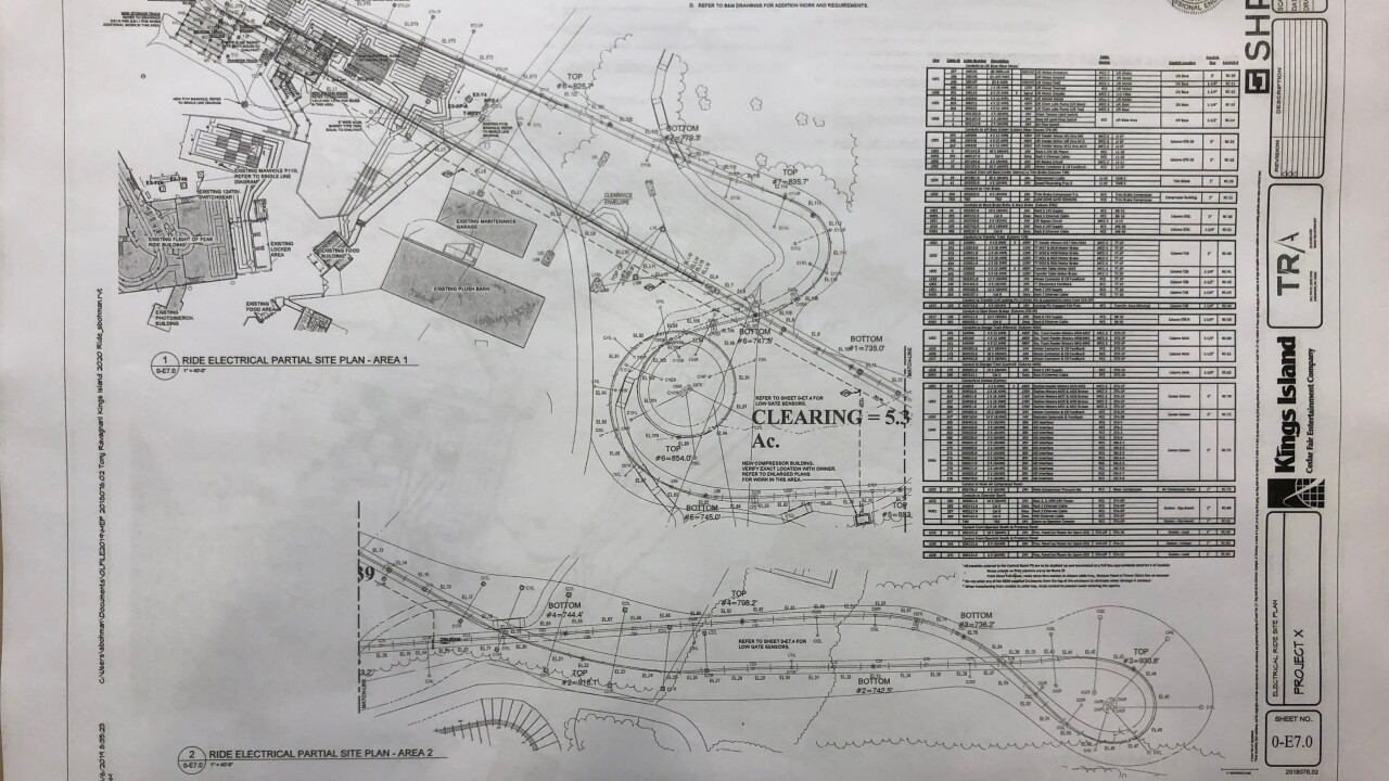 Kings Island Calendar 2020 New Kings Island blueprints show 300 foot giga coaster