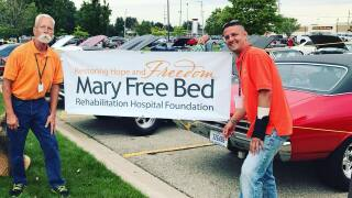 Recovering brain injury patient now dedicated Mary Free Bed volunteer
