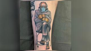 Bernie Sanders tattoo