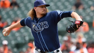 Rays lose bid for combined perfect game on hit in 9th